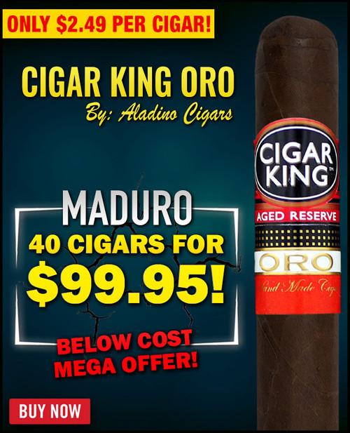 Cigar King Oro By Aladino Maduro Toro (6x50 / 40 PACK SPECIAL) + 75% OFF RETAIL!