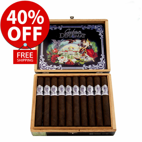 Cuban Diplomat Limited Edition Robusto By AJ Fernandez (5x54 / 10 PACK SPECIAL) + 40% OFF RETAIL! + FREE SHIPPING ON YOUR ENTIRE ORDER!