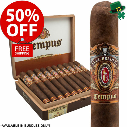Alec Bradley AB Tempus Nicaragua Robusto (5x50 / Pack 20) + 50% OFF RETAIL! + FREE SHIPPING ON YOUR ENTIRE ORDER!