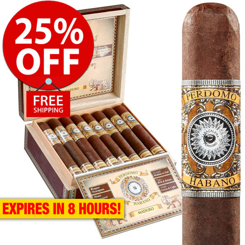 Perdomo Habano Bourbon Barrel Aged Maduro Epicure (6x54 / Box 24) + 25% OFF RETAIL! + FREE SHIPPING ON YOUR ENTIRE ORDER!
