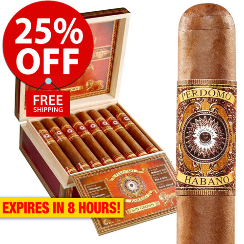 Perdomo Habano Bourbon Barrel Aged Sungrown Epicure (6x54 / Box 24) + 25% OFF RETAIL! + FREE SHIPPING ON YOUR ENTIRE ORDER!