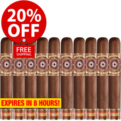 Perdomo Habano Bourbon Barrel Aged Sungrown Epicure (6x54 / 10 Pack) + 20% OFF RETAIL! + FREE SHIPPING ON YOUR ENTIRE ORDER!