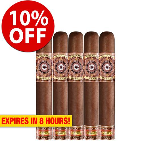 Perdomo Habano Bourbon Barrel Aged Sungrown Epicure (6x54 / 5 Pack) + 10% OFF RETAIL!