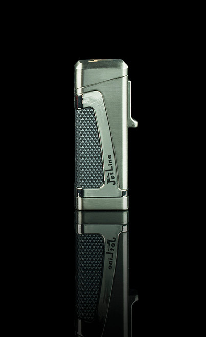 JetLine Hurricane II Triple Flame Dual Action Cigar Lighter with Cigar Punch