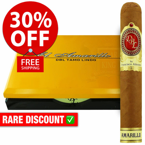 DBL Cigars Amarillo Connecticut Churchill (6.875x47 / 10 PACK SPECIAL) + 30% OFF RETAIL PRICING! + FREE SHIPPING ON YOUR ENTIRE ORDER!