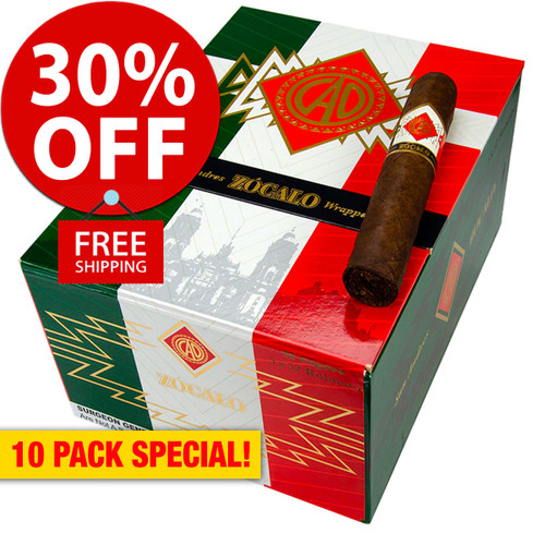CAO Zocalo San Andres Toro (6.2x54 / 10 PACK SPECIAL) + 30% OFF RETAIL PRICING! + FREE SHIPPING ON YOUR ENTIRE ORDER!