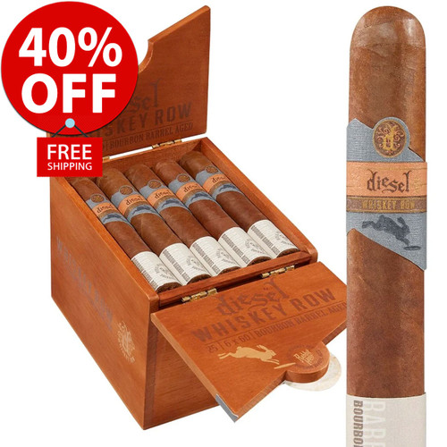 Diesel Whiskey Row Toro (6x54 / Box 25) + 40% OFF RETAIL! + FREE SHIPPING ON YOUR ENTIRE ORDER!
