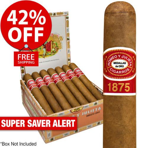 Romeo y Julieta 1875 Bully (5x50 / 25 PACK SPECIAL) + 42% OFF RETAIL! + FREE SHIPPING ON YOUR ENTIRE ORDER!