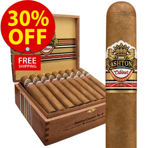 Ashton Cabinet Vintage Selection No. 1 Perfecto (9x52 / 10 PACK SPECIAL) + 30% OFF RETAIL! + FREE SHIPPING ON YOUR ENTIRE ORDER!