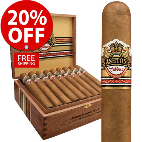 Ashton Cabinet Vintage Selection No. 6 Robusto (5.5x52 / 10 PACK SPECIAL) + 20% OFF RETAIL! + FREE SHIPPING ON YOUR ENTIRE ORDER!