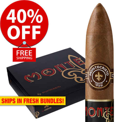 Monte by Montecristo Jacopo No. 2 Box Pressed Torpedo (6x54 / Pack 10) + 40% OFF! + FREE SHIPPING ON YOUR ENTIRE ORDER!