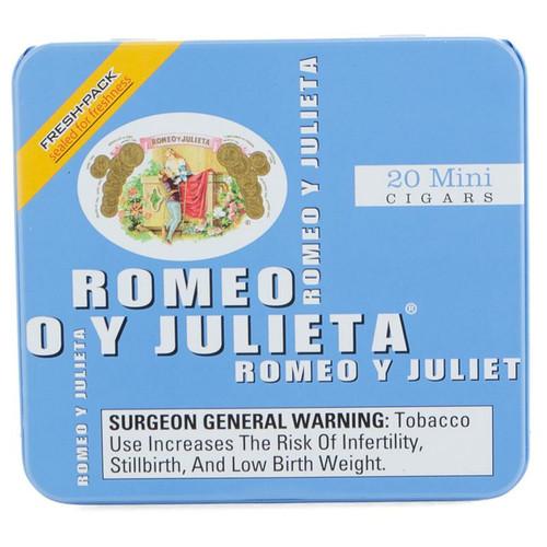 Romeo Y Julieta 1875 Mini Blue Mild Tins (2.875x20 / Tin Of 20)