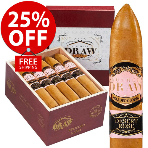 Southern Draw Desert Rose Belicoso (5.5x54 / 10 PACK SPECIAL) + 25% OFF RETAIL! + FREE SHIPPING ON YOUR ENTIRE ORDER!