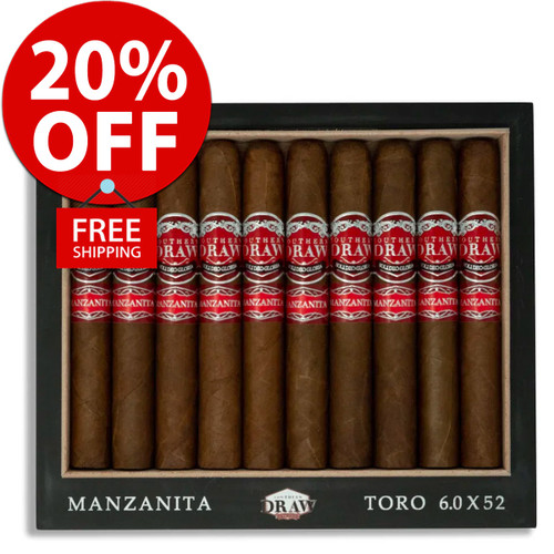 Southern Draw La Manzanita Toro Limited Edition (6x52 / 10 PACK SPECIAL) + 20% OFF RETAIL! + FREE SHIPPING ON YOUR ENTIRE ORDER!