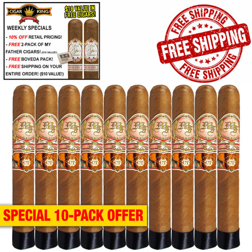 My Father Connecticut Robusto (5.5x52 / 10 PACK SPECIAL) + 10% OFF RETAIL! + 2 BONUS MY FATHER CIGARS! ($18 VALUE!) + BOVEDA PACK! + FREE SHIPPING ON YOUR ENTIRE ORDER!