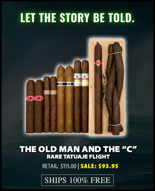 """Rare Tatuaje Old Man And The """"C"""" Flight (Assorted Sizes / 12 PACK SPECIAL) + 19% OFF! + FREE SHIPPING ON YOUR ENTIRE ORDER!"""