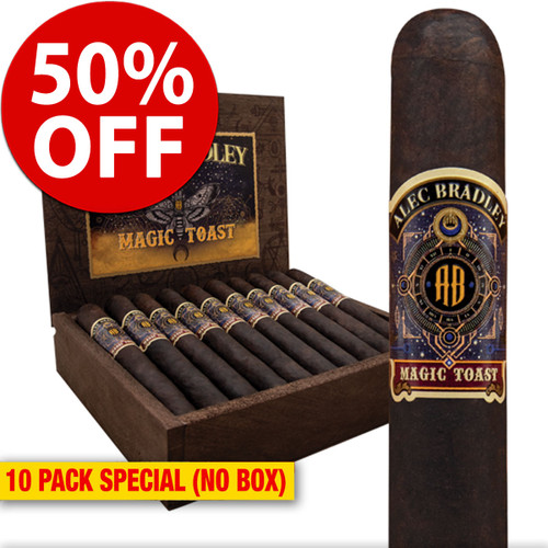 Alec Bradley Magic Toast Robusto (5x52 / 10 PACK SPECIAL) + 50% OFF RETAIL!