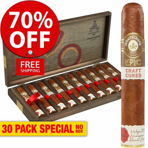 Montecristo Epic Craft Cured (6x52 / 30 PACK SPECIAL) + 70% OFF RETAIL! + FREE SHIPPING ON YOUR ENTIRE ORDER! *PRE-ORDER NOW*