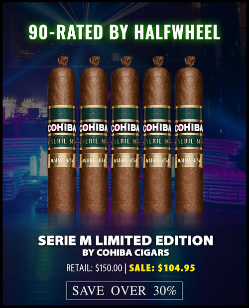 Cohiba Serie M Miami Limited Edition Toro (6x52 / 5 Pack) + 30% OFF RETAIL! + FREE SHIPPING ON YOUR ENTIRE ORDER!