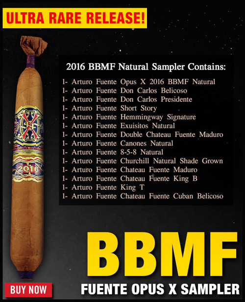 *SOLD OUT* Arturo Fuente Extremely Rare 2016 Opus X BBMF Natural Sampler (14 CIGAR SAMPLER) + $100 OFF DISCOUNT + FREE BOVEDA HUMI-FRESH PACK + FREE SHIPPING ON YOUR ENTIRE ORDER!