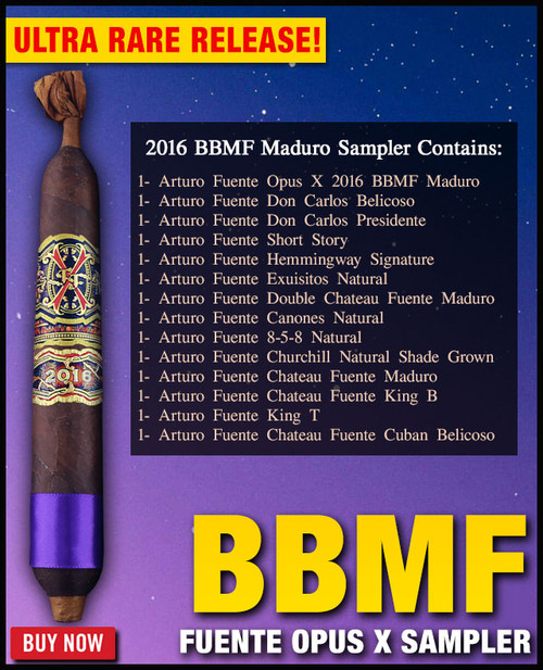 *SOLD OUT* Arturo Fuente Extremely Rare 2016 Opus X BBMF Maduro Sampler (14 CIGAR SAMPLER) + $100 OFF DISCOUNT + FREE BOVEDA HUMI-FRESH PACK + FREE SHIPPING ON YOUR ENTIRE ORDER!