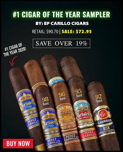 EP Carillo 2020 #1 Cigar Of The Year Sampler (8 PACK SPECIAL) + 20% OFF RETAIL + FREE SHIPPING ON YOUR ENTIRE ORDER!