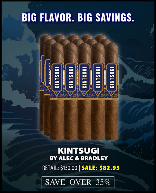 Alec & Bradley Kintsugi Robusto (5x50 / Pack 15) + 36% OFF RETAIL! + FREE SHIPPING ON YOUR ENTIRE ORDER!