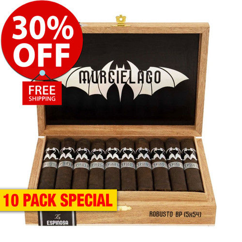 Murcielago by Espinosa Toro Box-Pressed (6x52 / 10 PACK SPECIAL) + 30% OFF RETAIL! + FREE SHIPPING ON YOUR ENTIRE ORDER!