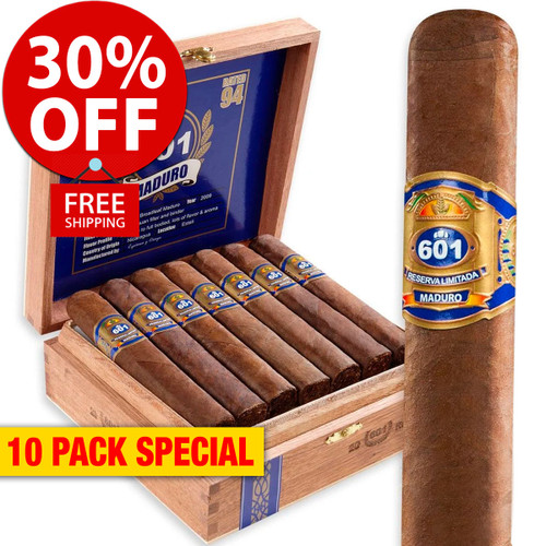 601 Maduro by Espinosa Robusto (5.25x52 / 10 PACK SPECIAL) + 30% OFF RETAIL! + FREE SHIPPING ON YOUR ENTIRE ORDER!