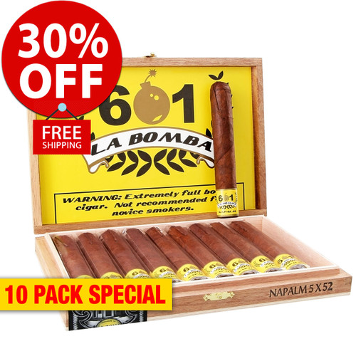 601 La Bomba by Espinosa Nuclear (6x50 / 10 PACK SPECIAL) + 30% OFF RETAIL! + FREE SHIPPING ON YOUR ENTIRE ORDER!