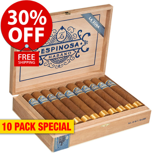 Espinosa Habano No. 5 Toro (6x52 / 10 PACK SPECIAL) + 30% OFF RETAIL! + FREE SHIPPING ON YOUR ENTIRE ORDER!