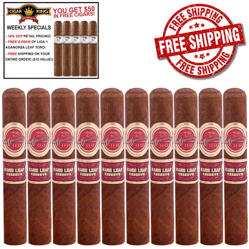 Casa Fernandez Aganorsa Leaf Rare Leaf Churchill (7x50 / 10 PACK SPECIAL) + FREE 5-PACK LIGA-1 CK AGANORSA LEAF ($30 VALUE) + FREE BOVEDA FRESH PACK + FREE SHIPPING ON YOUR ENTIRE ORDER!