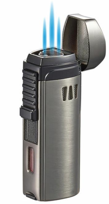 Visol Cigar King Denali Triple Flame Torch Lighter Gunmetal