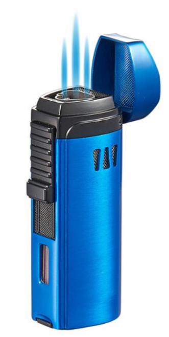 Visol Cigar King Denali Triple Flame Torch Lighter Blue