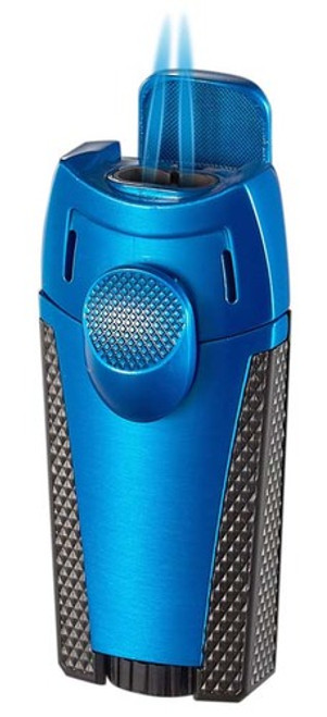 Visol Cigar King Meru Dual Flame Torch Lighter Blue