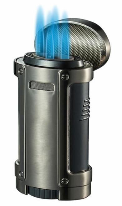 Visol Cigar King Rhino Quad Flame Torch Lighter Gunmetal
