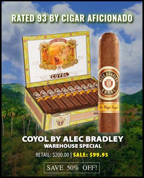 Alec Bradley Coyol Toro (6x52 / 20 Pack) + 50% OFF! + FREE SHIPPING ON YOUR ENTIRE ORDER!