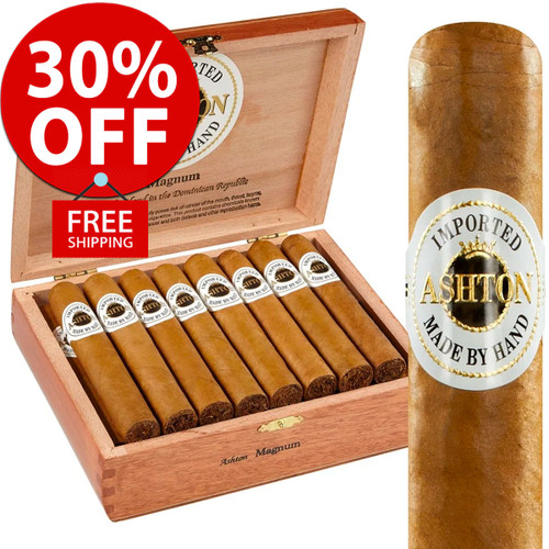 Ashton Double Magnum (6x50 / 10 PACK SPECIAL) + 30% OFF RETAIL! + FREE SHIPPING ON YOUR ENTIRE ORDER!