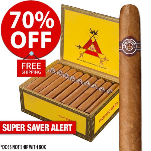 Montecristo Original No. 2 Torpedo (6x50 / Pack 20) + 70% OFF RETAIL! + FREE SHIPPING ON YOUR ENTIRE ORDER!