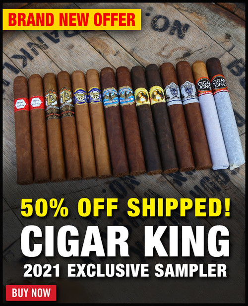 Cigar King 2021 Exclusive Sampler Deal (14 PACK SPECIAL) + 50% OFF + FREE SHIPPING ON YOUR ENTIRE ORDER!