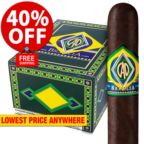 CAO Brazilia Gol (5x56 / Box 20) + 40% OFF RETAIL PRICING! + FREE SHIPPING ON YOUR ENTIRE ORDER!