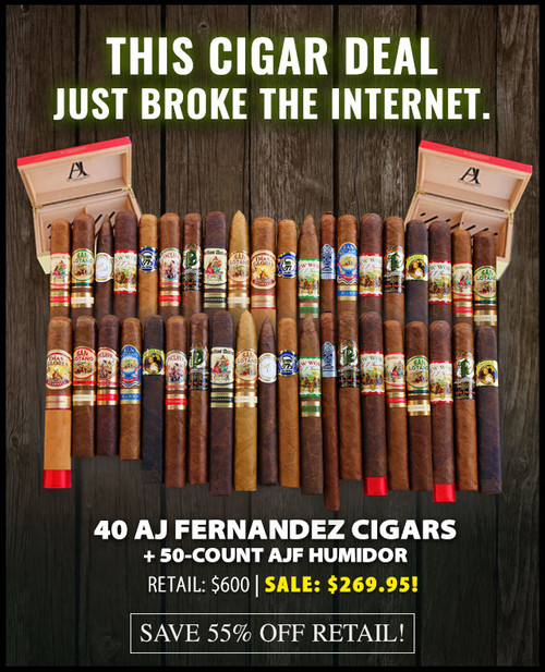 AJ Fernandez Mastercase & Humidor Flash Deal (40 Cigars & Humidor) + 55% OFF! + FREE SHIPPING ON YOUR ENTIRE ORDER!