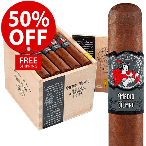La Gloria Cubana Medio Tiempo Robusto (5x54 / 25 PACK SPECIAL) + 50% OFF RETAIL! + FREE SHIPPING ON YOUR ENTIRE ORDER!