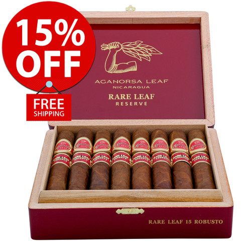 Aganorsa Leaf Rare Leaf Robusto (5.25x52 / 10 PACK SPECIAL) + 15% OFF RETAIL! + FREE SHIPPING ON YOUR ENTIRE ORDER!