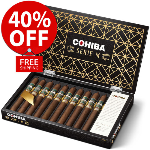 Cohiba Serie M Limited Edition (6x52 / 10 PACK SPECIAL) + 40% OFF RETAIL! + FREE SHIPPING ON YOUR ENTIRE ORDER!