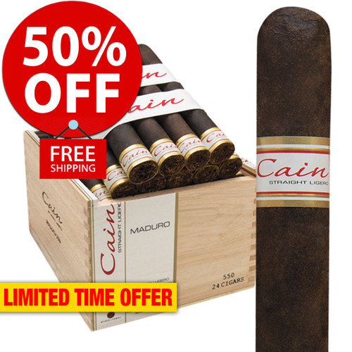 Cain Maduro 550 Robusto (5.75x50 / Box 24) + 50% OFF RETAIL! + FREE SHIPPING ON YOUR ENTIRE ORDER!