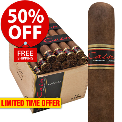 Cain Habano 550 Robusto (5.75x50 / Box 24) + 50% OFF RETAIL! + FREE SHIPPING ON YOUR ENTIRE ORDER!