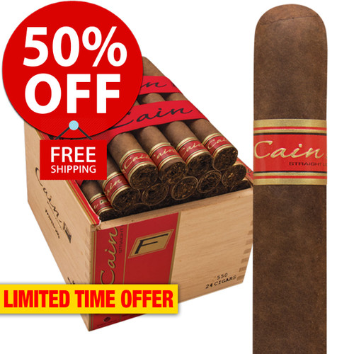 Cain F 550 Robusto (5.75x50 / Box 24) + 50% OFF RETAIL! + FREE SHIPPING ON YOUR ENTIRE ORDER!