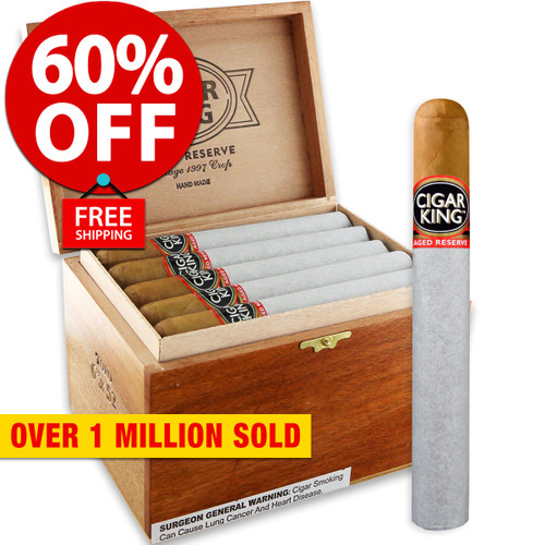 Cigar King Aged Reserve Natural Corona (5.5x46 / Box 25) + 60% OFF RETAIL! + FREE SHIPPING ON YOUR ENTIRE ORDER!