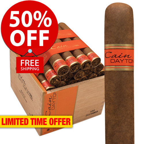 Cain Daytona 550 Robusto (5x50 / Box 24) + 50% OFF RETAIL! + FREE SHIPPING ON YOUR ENTIRE ORDER!